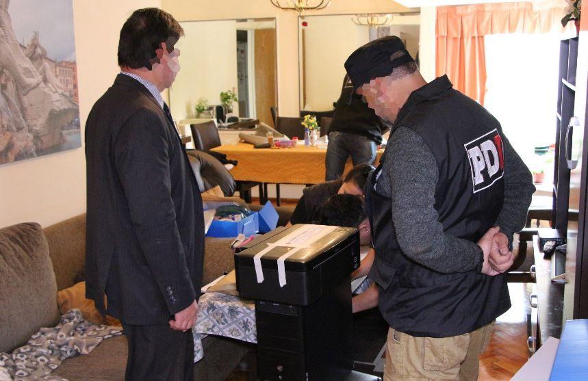 Uno de los allanamientos del miércoles(Ministerio de Seguridad de Santa Fe)