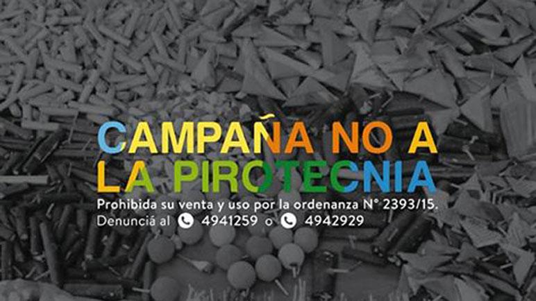 La campaña de Carcarañá recomienda denunciar en caso de advertir uso de pirotecnia.