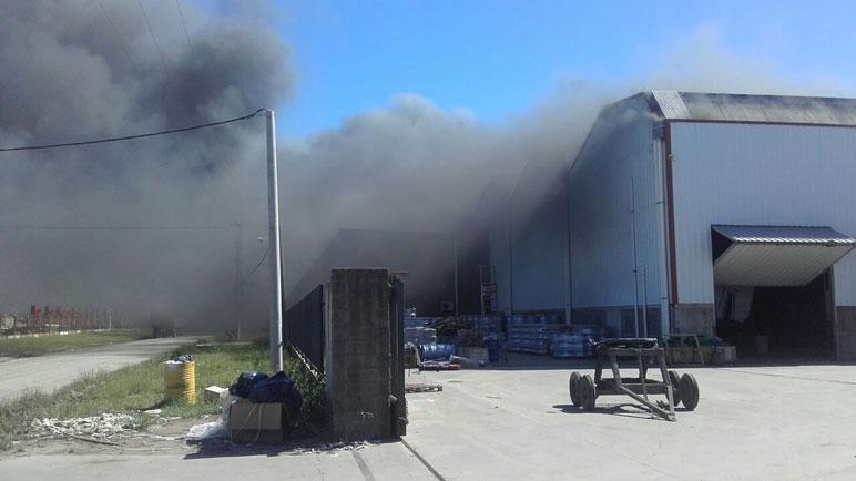 El incendio en la fábrica Ombú.