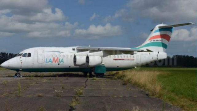Un avión de Lamia como el que se estrelló en Antioquia.