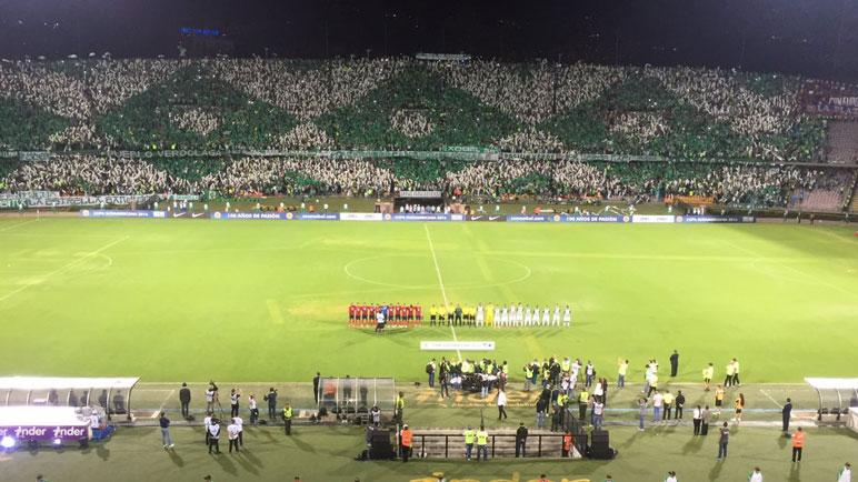 El estadio de Medellín fue una fiesta.