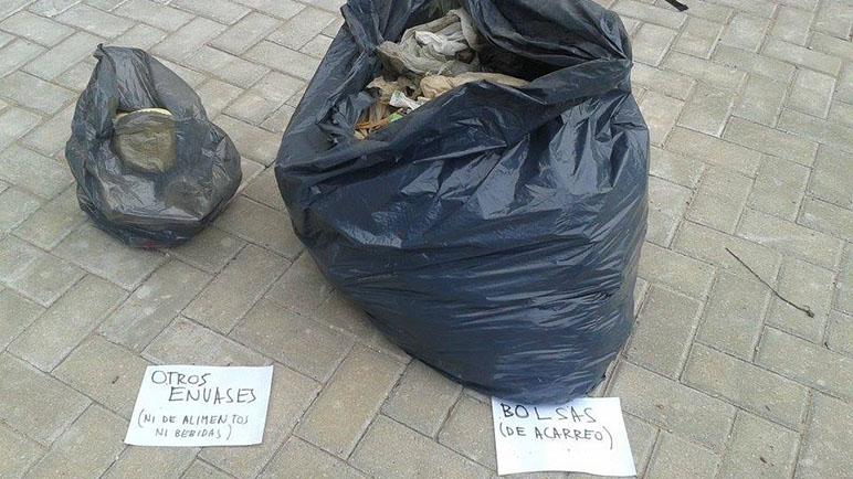 El sábado se recolectaron más de cien bolsas de basura (Foto: Taller Ecologista)