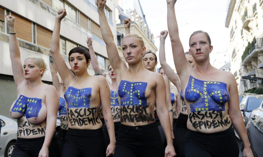 Una de las tantas protestas en Francia contra el Frente Nacional (EFE)