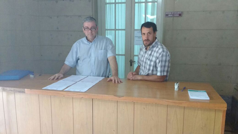 Personal del Enress en el palacio municipal.