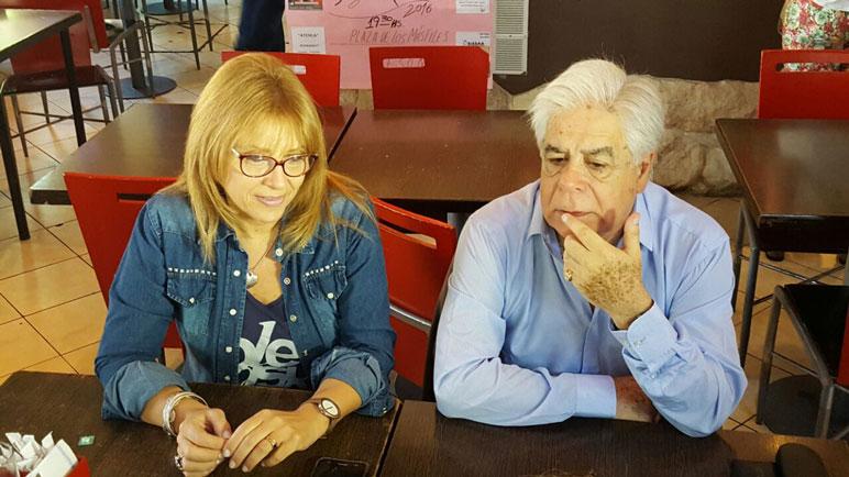 Claudia Giaccone y Norberto Outerelo.
