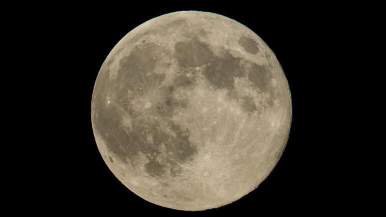 La superluna, fenomenal.