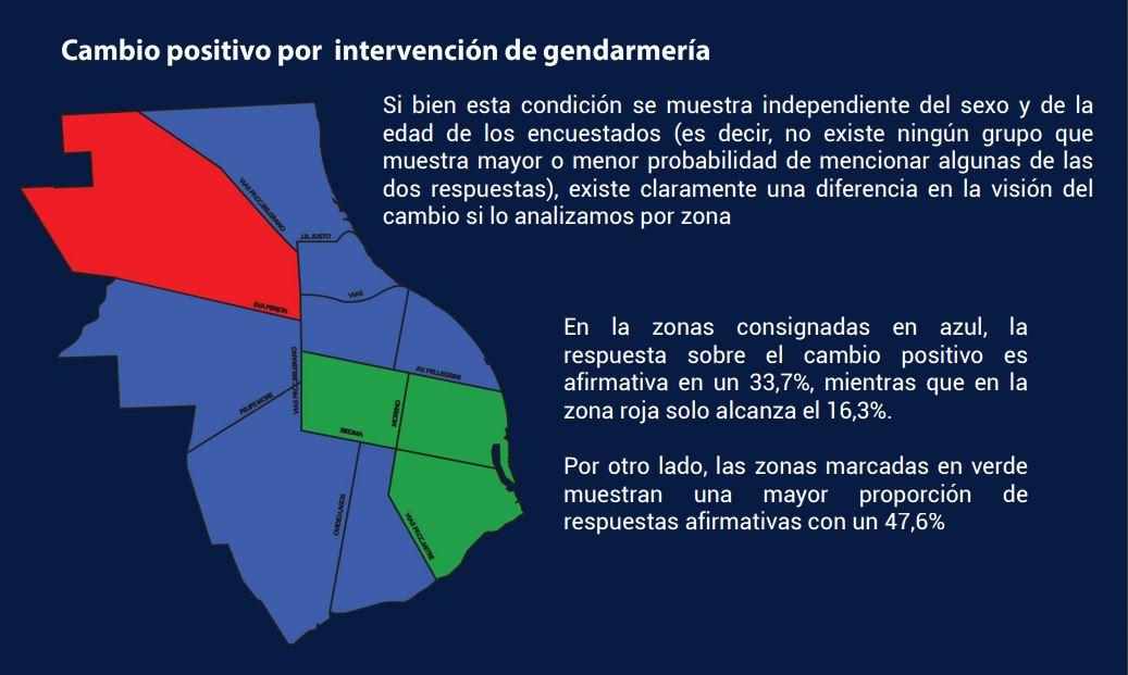 La encuesta se realizó por zonas de densidad poblacional (Gentileza: Cemop)