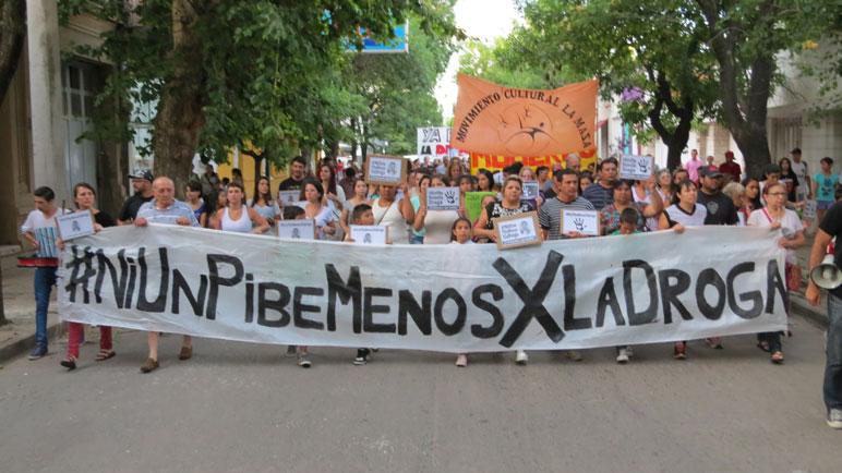 Una de las marchas que se realizó en la ciudad.