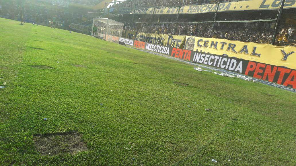 Así lucía el Gigante en la previa del choque ante Independiente.