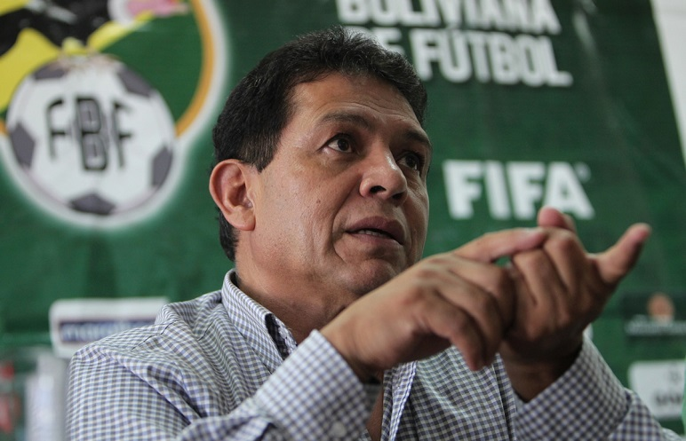 Rolando López, presidente de la Federación Boliviana de Fútbol, hizo el anuncio.