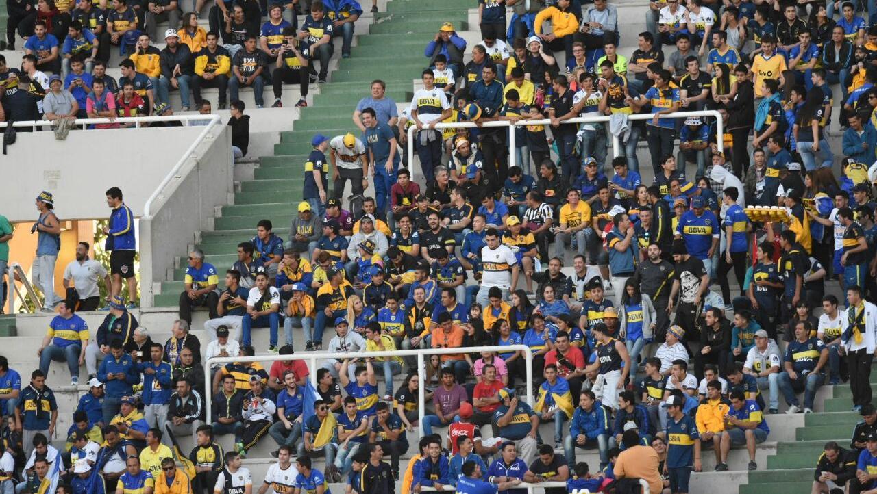 Los de Boca también llegaron en gran número (Foto: Juan José García)