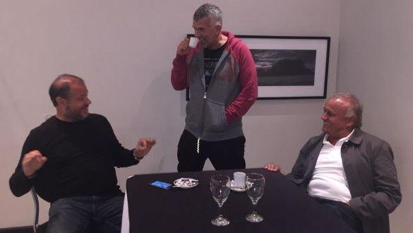 Los tres santafesinos se dejaron ver juntos en Rosario. Parece que vuelven.