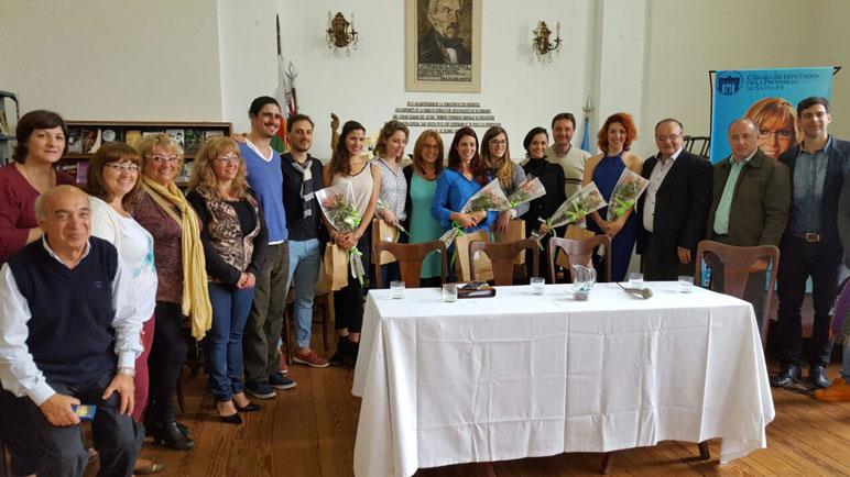 La presentación de la gira del Ballet en la Biblioteca Casado de Casilda.