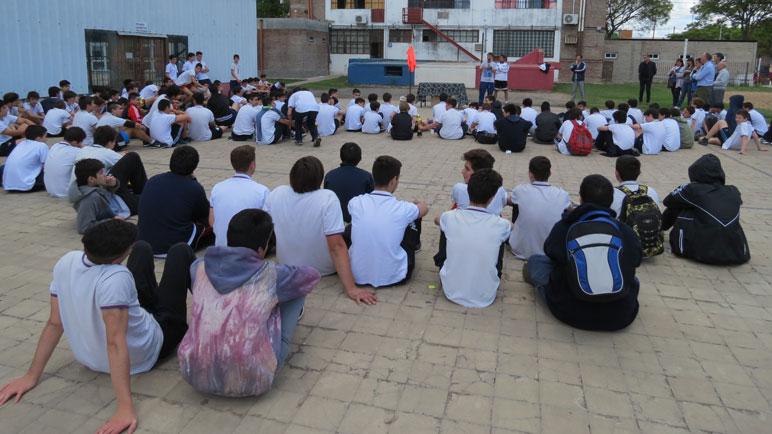 Cientos de chicos participaron de la actividad.