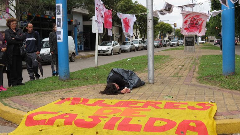 El reclamo en Buenos Aires y Sarmiento.