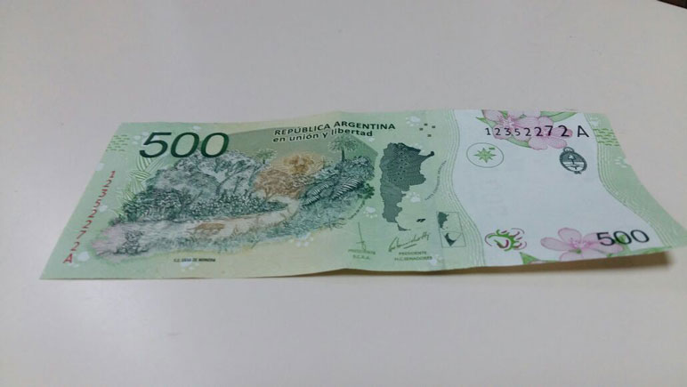 El billete de $500.