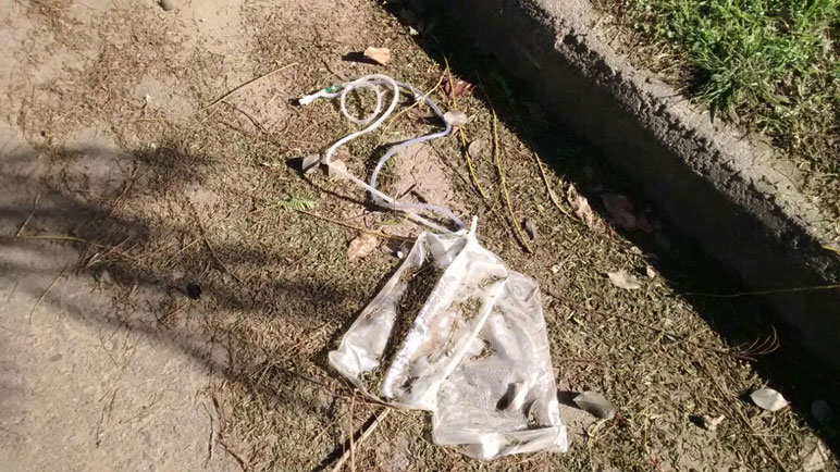 Los residuos en plena vía pública.