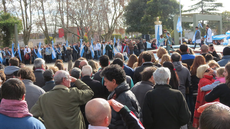 El acto se desarrolló en Plaza Belgrano.