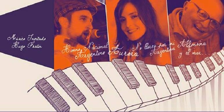 """José Viberti, Virginia Cattarozzi y Enrique Volonté protagonizan """"De palabras y canciones""""."""
