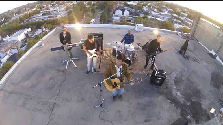 Una de las tomas del video clip.