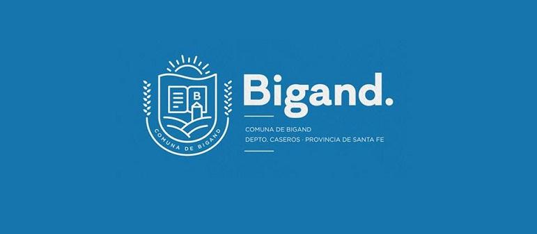 La imagen del nuevo escudo de Bigand, que se hará oficial en julio.