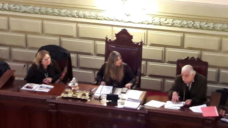 La sesión fue presidida por la diputada Miriam Cinalli.
