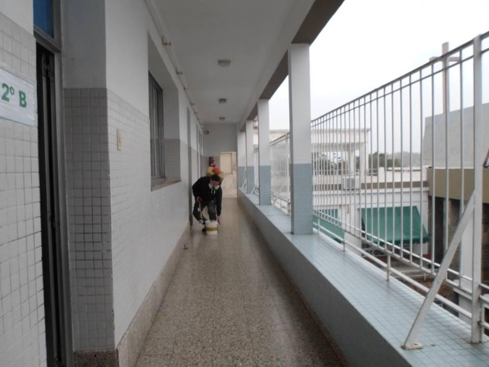 La desinfección se realizó en todo el colegio primario, luego de saberse que son dos los alumnos contagiados