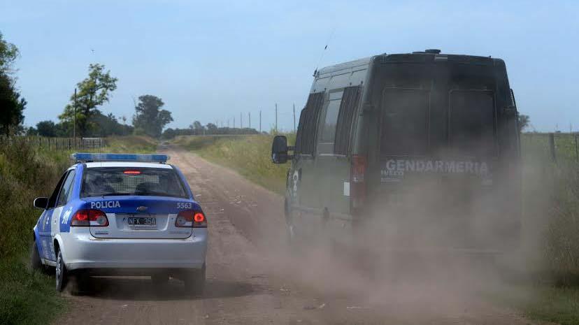El rastrillaje en distintos caminos de la provincia de Santa Fe.