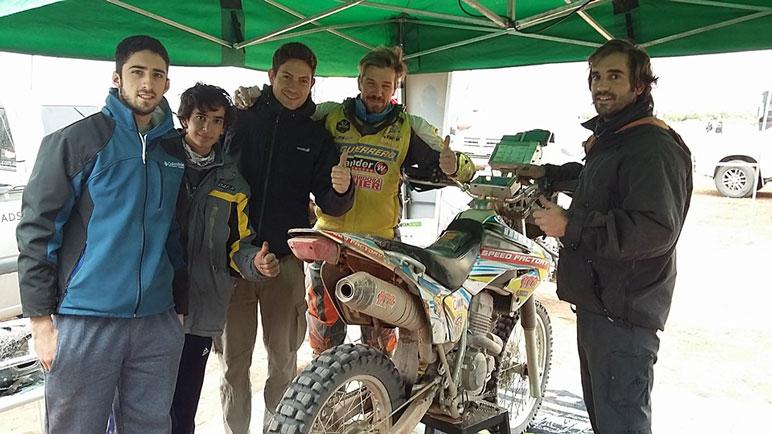 David y parte de su equipo en La Rioja.
