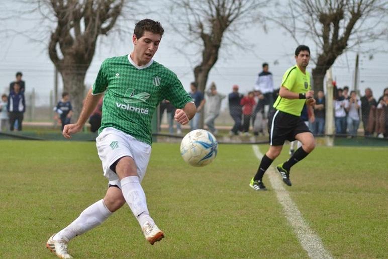 Giustozzi hizo el tercero en la goleada de Nueve sobre Argentino.