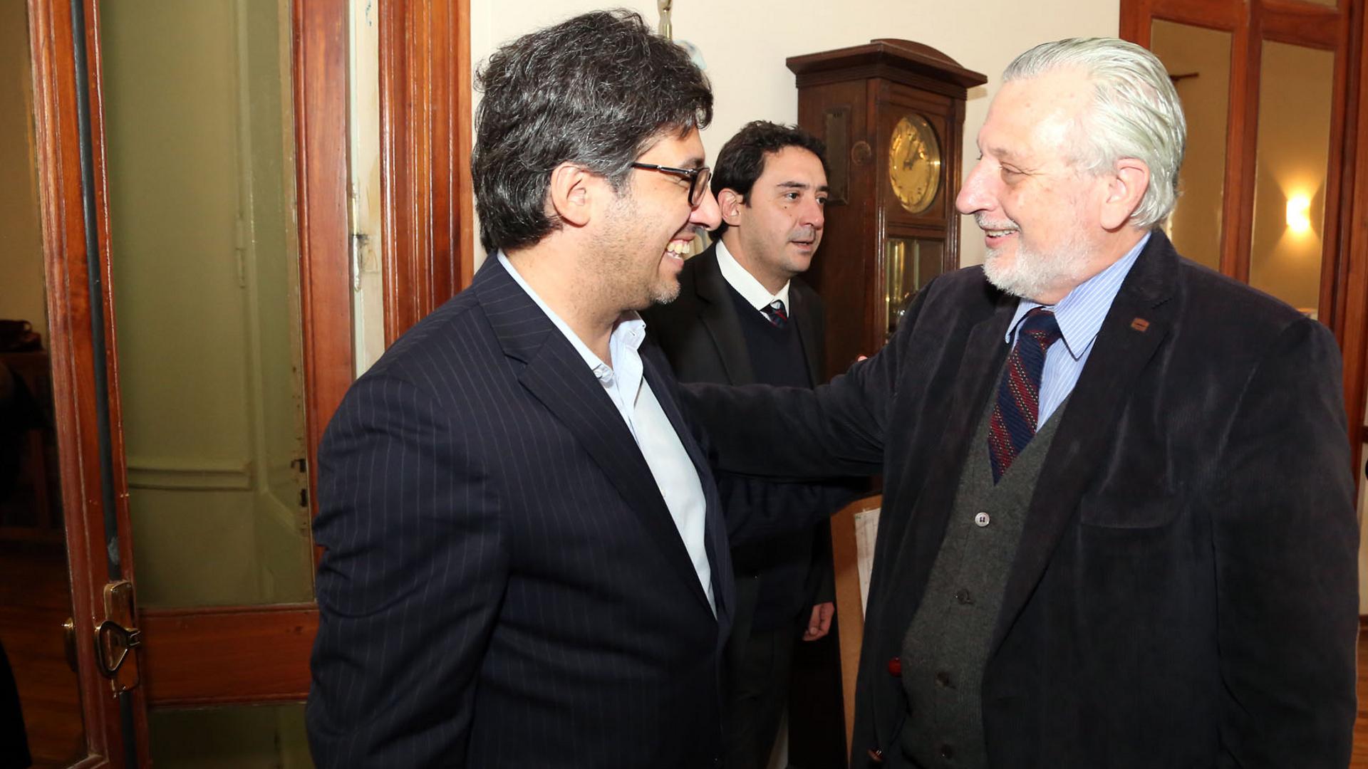 Silberstein y Garavano en la reunión del lunes (santafe.gob)