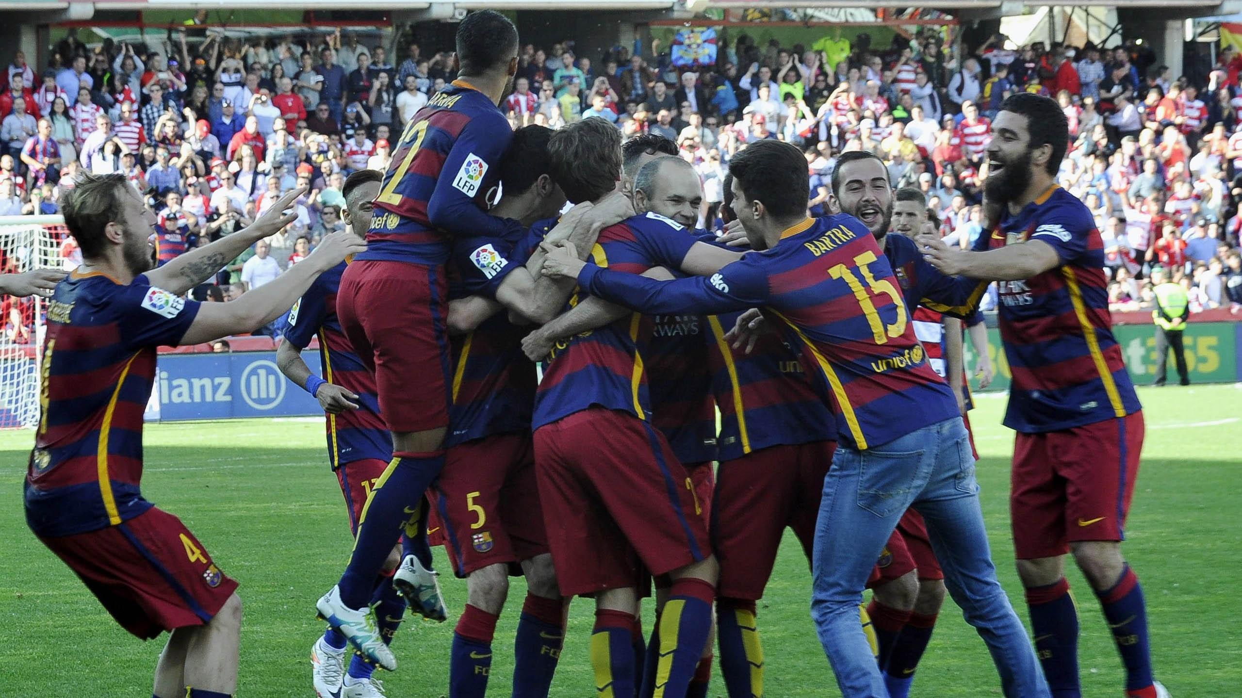 Barcelona ganó su partido y se quedó con la Liga.