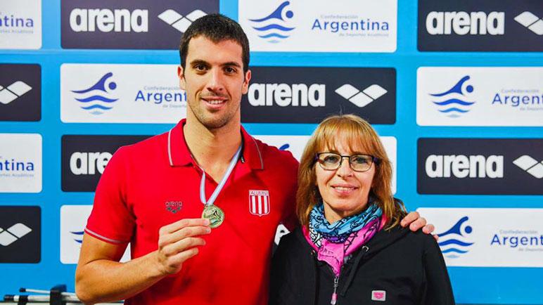 La fórmula del éxito: Fede y su entrenadora Mónica Gherardi.