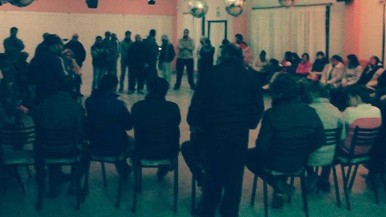 La reunión se desarrolló en el club Aprendices.