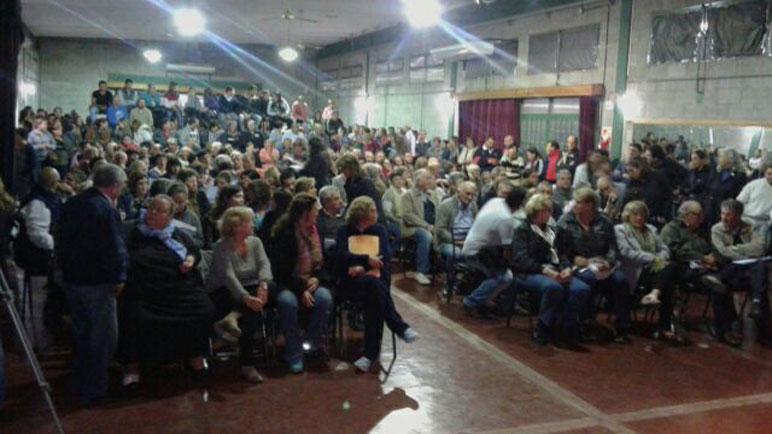 La asamblea se desarrolló en la Sala de la Cultura. Foto gentileza Canal 9 Chabás.