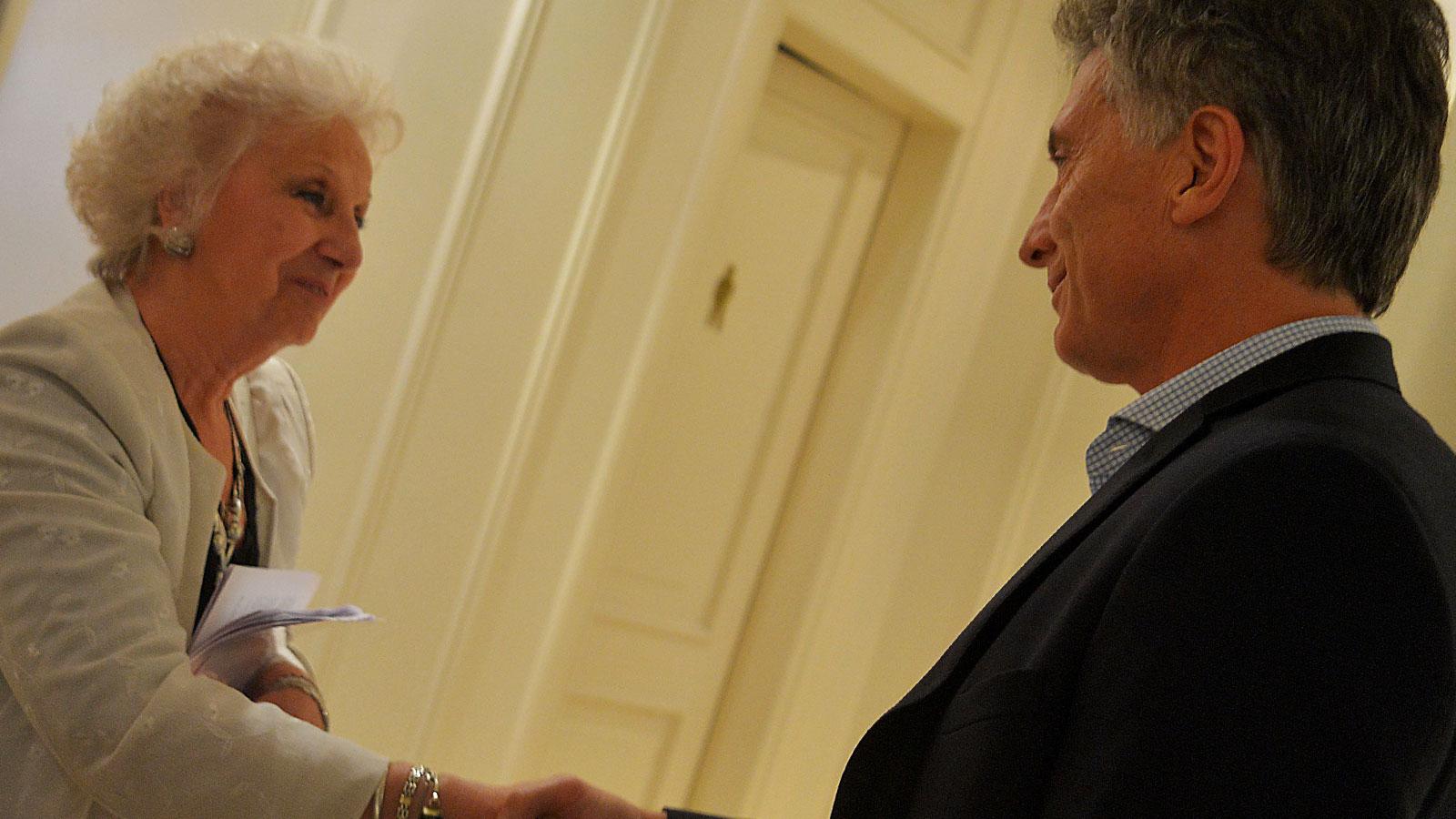Carlotto fue recibida por Macri en la Casa Rosada