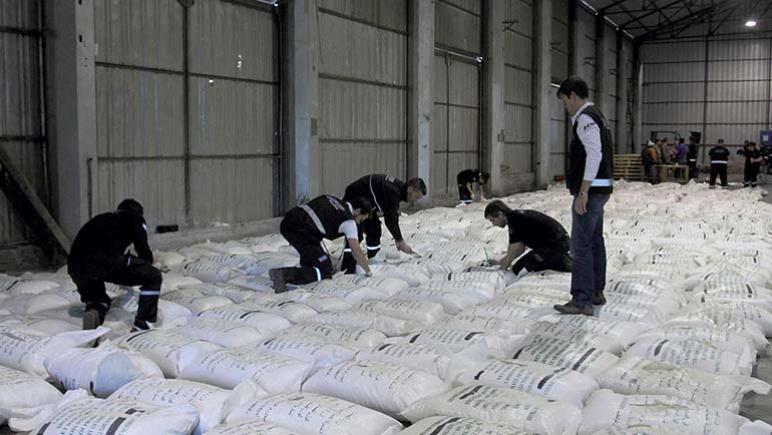 En Rosario se secuestraron unos 40 kilos de cocaína disimulada en cargamentos de arroz.