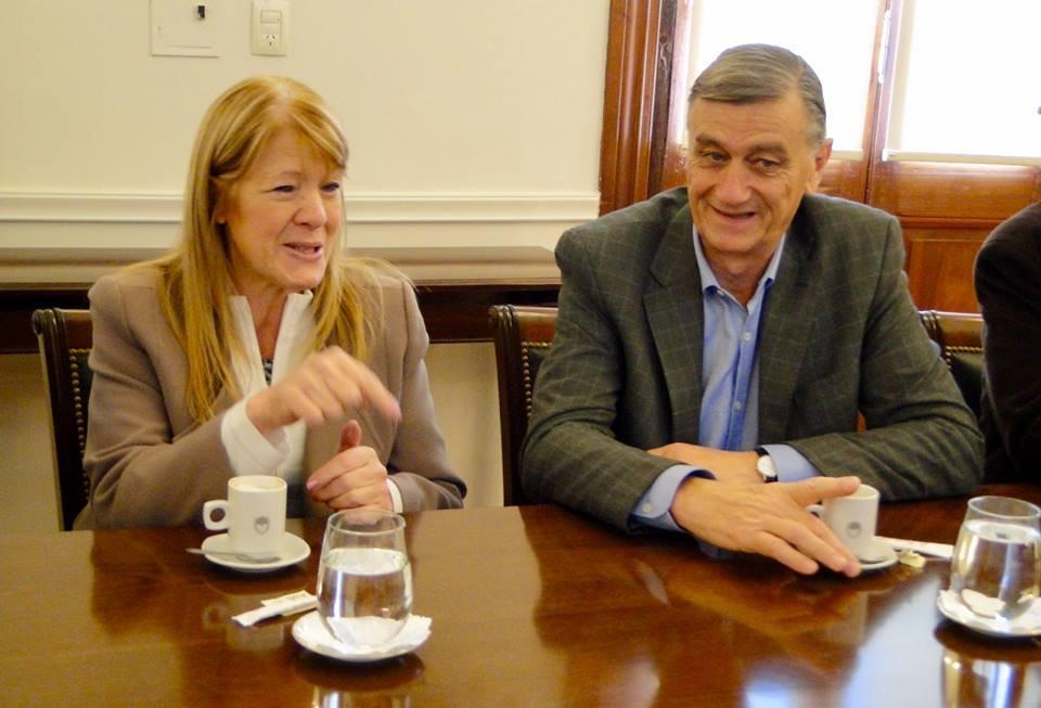 Margarita y Binner comparten el mismo espacio político a nivel nacional.