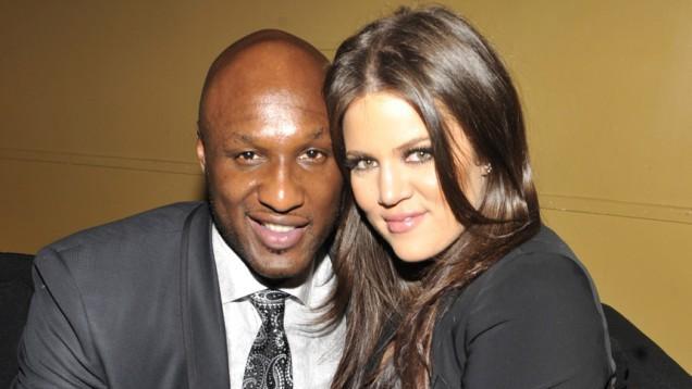 El basquetbolista, en tiempos felices con la menor de las Kardashian.