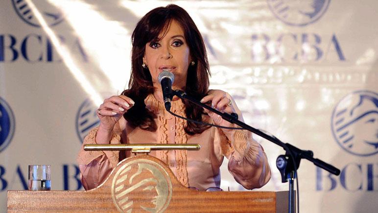 """""""La clave de gobernar es no ceder a las presiones"""", dijo la presidenta."""
