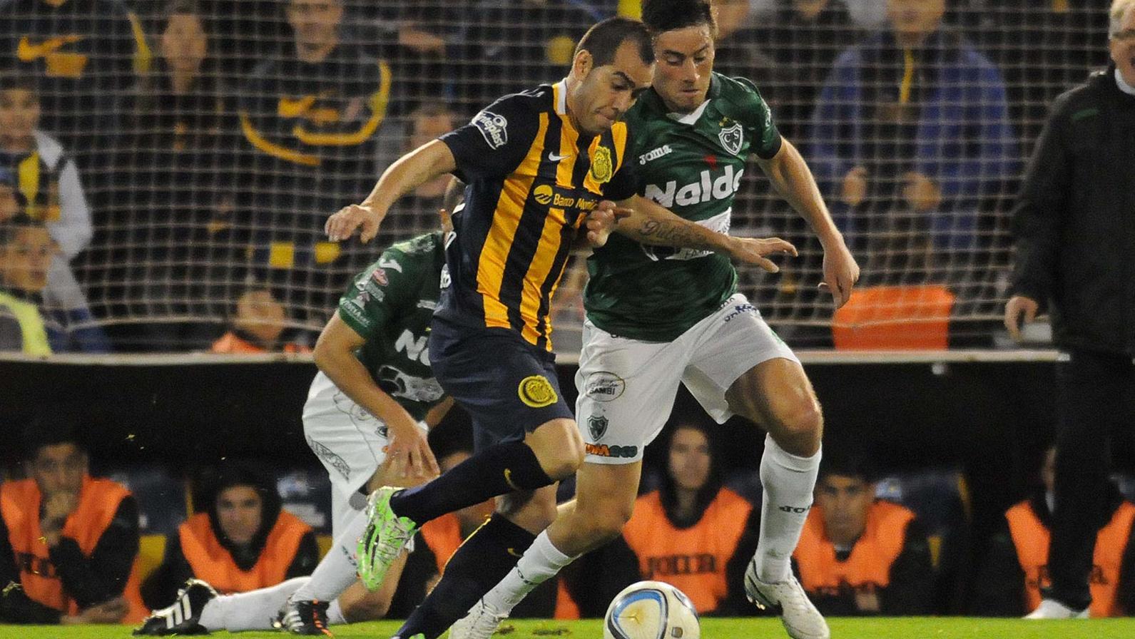 Degado fue una de las figuras en el partido ante Sarmiento.