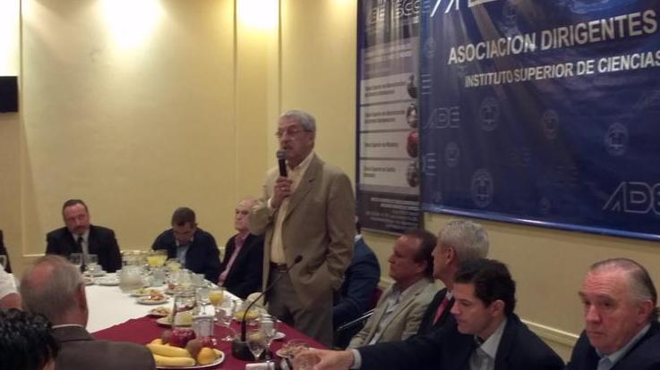 Mercier habla, Del Sel y los empresarios santafesinos escuchan.