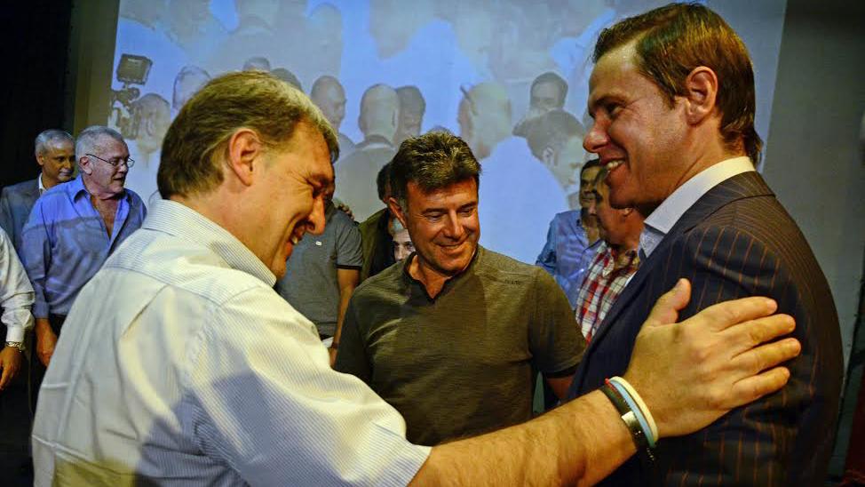 Martino y Redondo se reencontraron. Jugaron juntos en España (Foto: Ángel Donzelli)