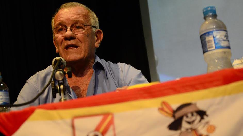 El Indio Solari, feliz por el libro (Foto: Ángel Donzelli)