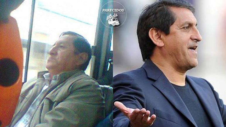 Ramón Díaz en el cole para ir a entrenar a la selección paraguaya. Largo viaje...