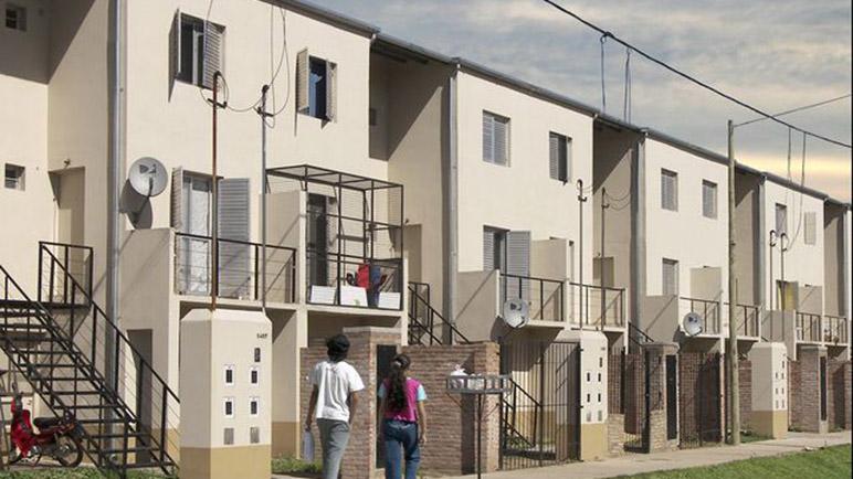 Viviendas sociales en el norte de Rosario.