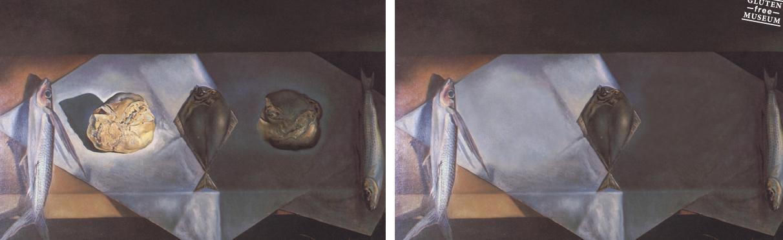 Pescado, pan, pescado, (????), pescado. Autor Salvador Dalí