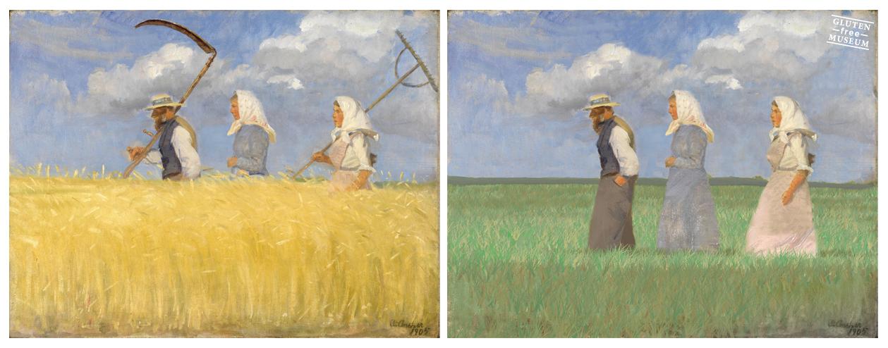 """""""Te dije vieja que acá no había trigo"""". Obra deAnna Ancher"""
