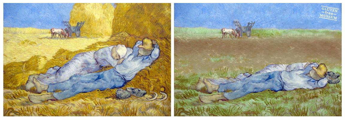 El pasto es mejor que el trigo para la siesta. AutorVincent van Gogh