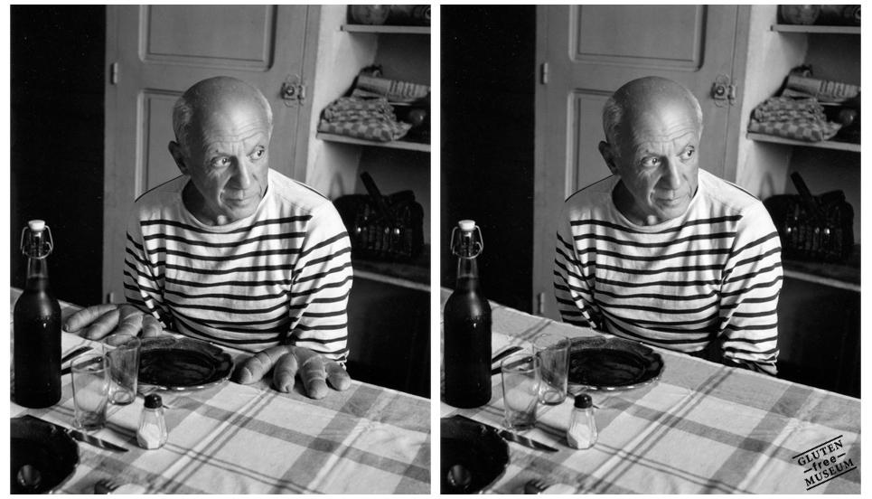 A una obra del fotógrafo Robert Doisneau también la simularon